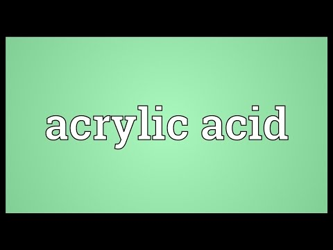 Header of acrylic acid