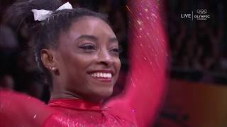Simone Biles Stuns With Near Stuck Vault, Ties Record For Most Medals Ever