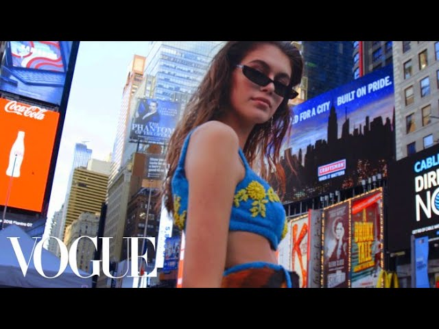 Inside Kaia Gerber's Whirlwind First Fashion Week | Vogue