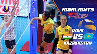 SMM 12th Asian Est Cola Women's U17 Volleyball Championship / IND vs KAZ