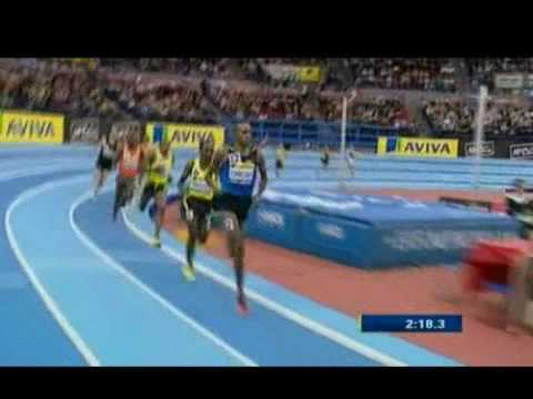 Deresse Mekonnen wins 1500m at Aviva Indoor Birmingham 2010