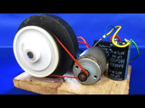 Make free energy 220V generator Motor in Magnet With Light bulbs Easy at Home 2018 thumbnail