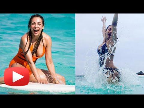 Malaika Arora Khan Sizzles In A Bikini - Maldives Vacation