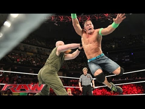 John Cena Vs. Erick Rowan: Raw, March 10, 2014 video