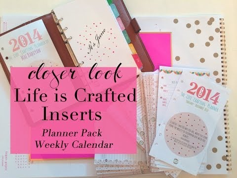 Filofax Inserts Review   Life Is Crafted Planner Pack + Weekly Calendar