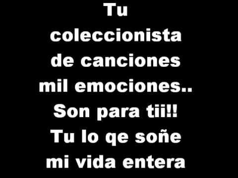 Camila - Coleccionista de canciones - Camila (Letra)