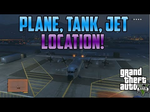 Gta5: Jet. Tank. Huge Plane. Vehicle Location! (Military Base)