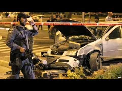 Nine hurt as car hits pedestrians at Jerusalem station