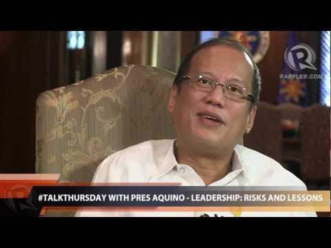 #TalkThursday with President Aquino - Leadership: Risks and lessons (Part 2)