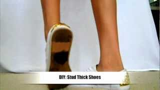 DIY Stud Thick Shoes
