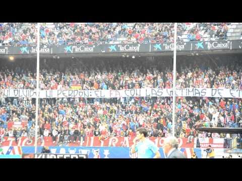 Frente Atletico con las victimas de ETA (Atletico de Madrid Vs Mallorca)