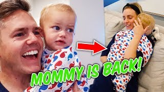 BABY REACTS! Emotional Homecoming for Mommy and Baby! | Ellie and Jared