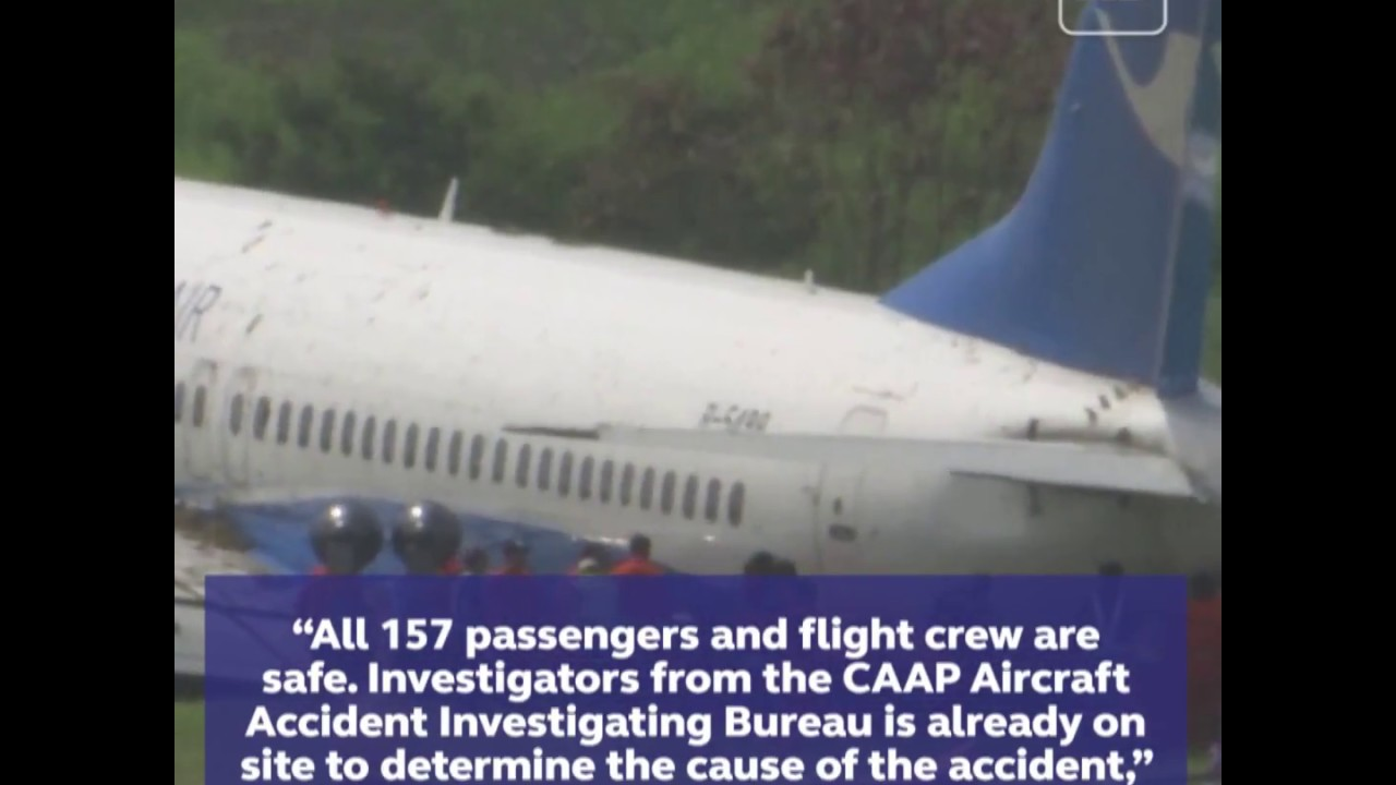 Chinese plane lands on belly at NAIA, passengers safe