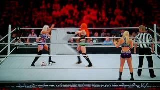 Wwe 2k16 - Becky Lynch Vs. Dana Brooke (with Emma)