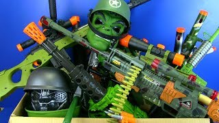 Guns Toys for Kids !Military Guns with Sound, Lights & Vibration - Box of Toys