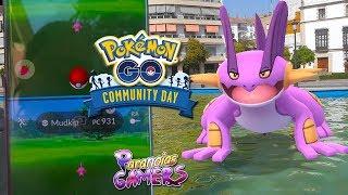 Mi COMMUNITY DAY de MUDKIP: CAPTURO 100%IV y muchos shinies! (Rango inside también) | Pokémon GO