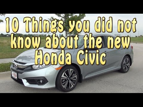 10 things you did not know about the 2016 Honda Civic
