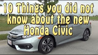 10 things you did Not know about the New Honda Civic