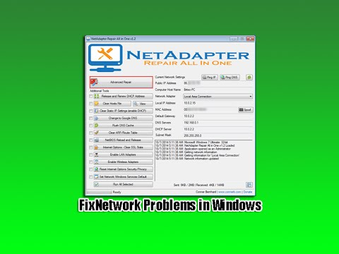 Fix Network Problems in Windows
