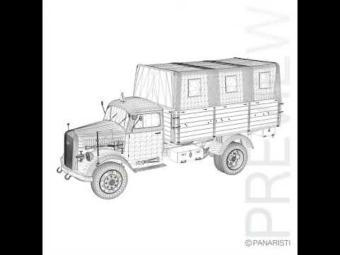 3D Model of Opel Blitz Truck