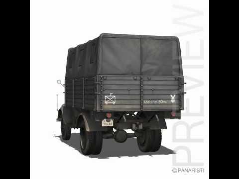 3D Model of Opel Blitz Truck