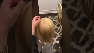 How to French braid with a surprise at the end!!!