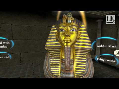 Tutankhamun's Golden Death Mask (Shot in King Tut Virtual)
