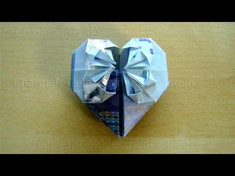 Geldschein Falten Herz Geldgeschenke Hochzeit Basteln Geld Falten