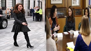 Kate stuns in seriously smart suit for mental health conference-Royal news