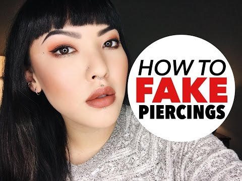 How To Fake Piercings   soothingsista