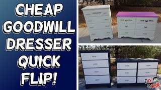 $40 Goodwill Dresser Set Quick Flip Makeover!