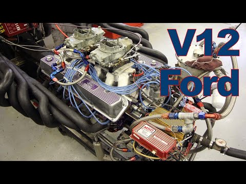 552 Cubic Inch V12 Ford on the Dyno
