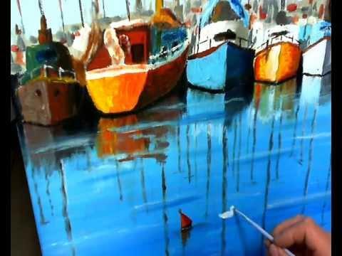 Dipingere acrilico spatola e pennello riflessi sul mare - Dipingere la facciata di casa ...