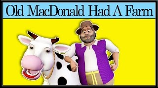 Old MacDonald Had A Farm - Nursery Rhymes Songs With Lyrics And Action
