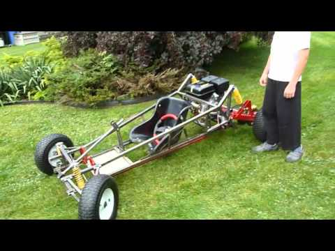 Homemade Off Road Go Kart Upgraded With A 9hp Engine