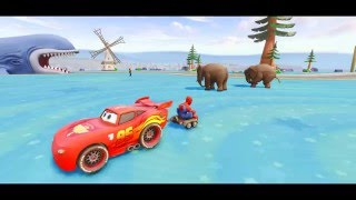 Disney Mcqueen Cars Spiderman Nursery Rhymes Songs for Children with Action
