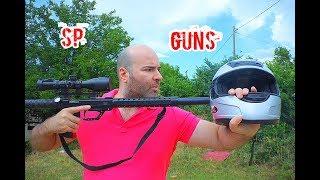 155 fpe Airgun VS Bike Helmet..!!