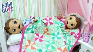 ROTINA DA NOITE | BABY ALIVE GÊMEOS LAURINHA E FELIPINHO VÃO DORMIR JUNTOS