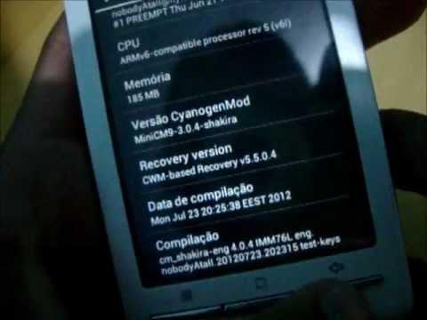 Sony Ericsson XPERIA X8 com MiniCM9 Android 4.0.4