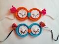 Örgü Uyku Bandı Yapımı / Crochet Sleepy Owl Mask