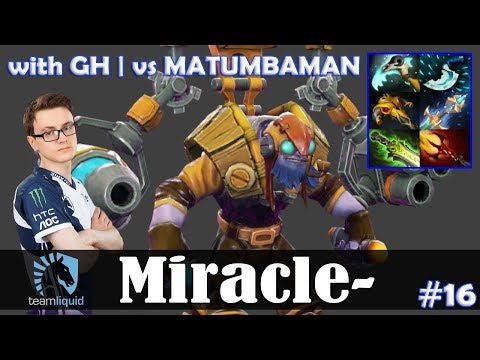 Miracle - Tinker MID   with GH   vs MATUMBAMAN   Dota 2 Pro MMR Gameplay #16