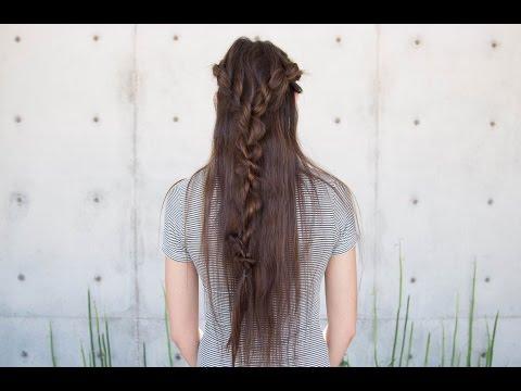 Rope Braid Half Up Hairstyle