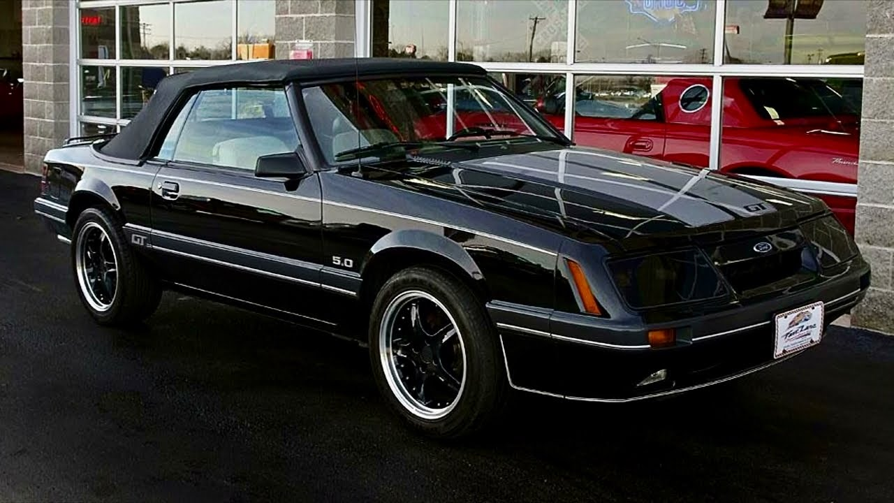 1986 ford mustang gt 5 0 v8 five speed convertible youtube. Black Bedroom Furniture Sets. Home Design Ideas