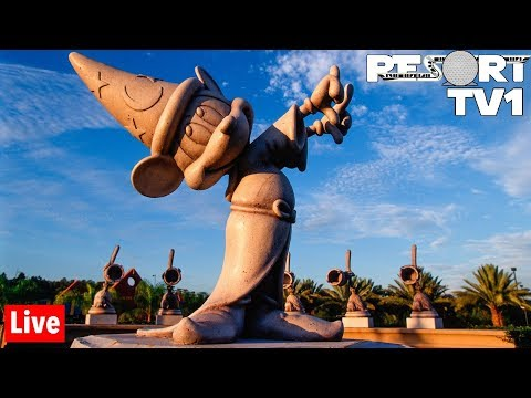 🔴Live: Fantasia Mini Golf and Resort Hopping 1080p - Walt Disney World - 9-13-19