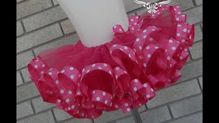 HOW TO: Make a Ribbon Trim Tutu by Just Add A Bow