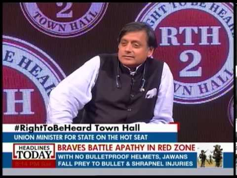 Right to be Heard: Shashi Tharoor