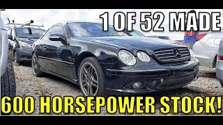 We Found A Crazy Rare Twin-Turbo V12 AMG Mercedes Sitting At A Salvage Auction & It Sounds Amazing!