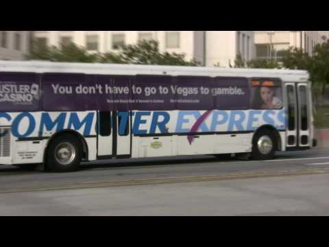 Various buses around Los Angeles Union Station during PM Peak in HD