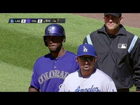 LAD@COL: Fowler brings Rockies closer with RBI single