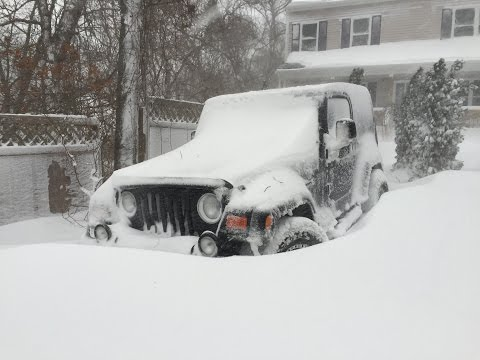 Winter Storm Juno Jeep Wrangler driving Part 2!